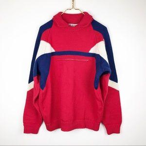 Vintage Men's Spyder Wool Ski Sweater Colorblock